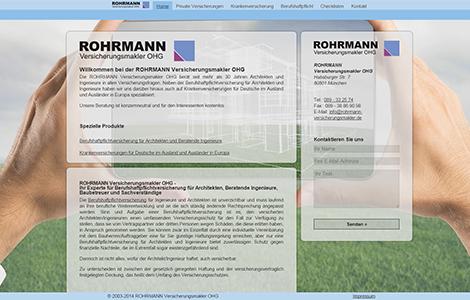 Rohrmann Versicherungsmakler oHG – immer einen Schritt voraus