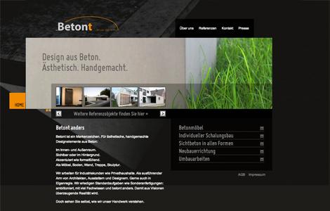 Beton über Beton - alles für den Beton-Liebhaber beim Unternehmen Betont